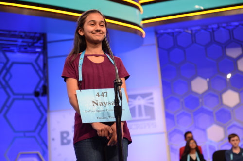 """Nadya Modi came in second. She missed the word """"bewusstseinslage""""."""