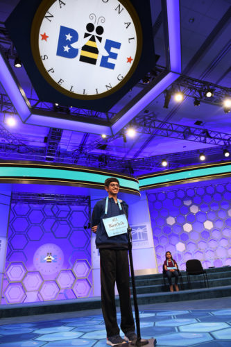 Karthik Nemmani studied about four hours a day to get ready for the spelling bee.