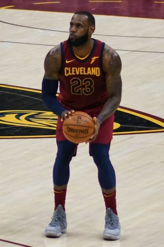 Lebron James of the Cleveland Cavaliers played the last three games with a hurt hand.