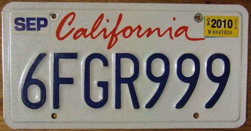 Currently US license plates are stamped in metal and stickers must be changed every year or two.