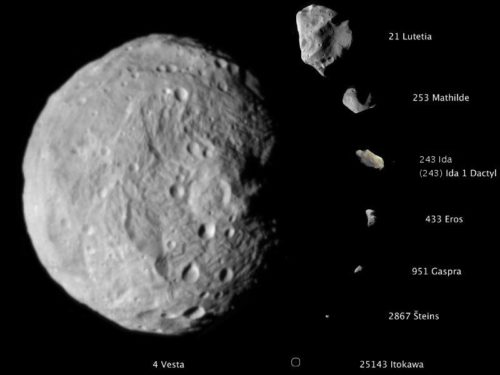 This picture shows that asteroids can be very different sizes.