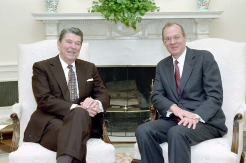 Supreme Court Justice Anthony Kennedy was chosen by President Ronald Reagan in 1988.