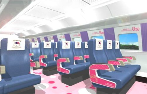 "Even the ""normal"" train cars will have pictures and colors from Hello Kitty."