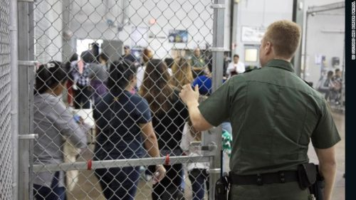 Children are being separated from parents who are trying to enter the US.