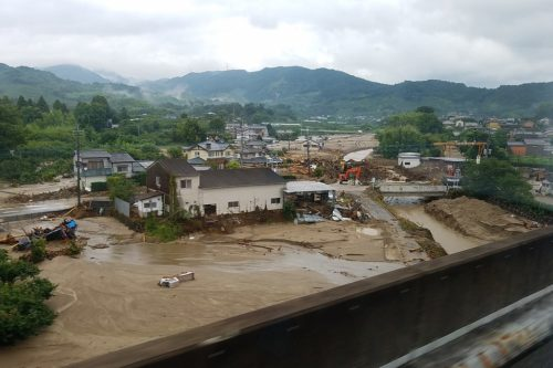 Flooding in Japan, 2017.