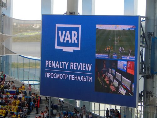 This is the first year that FIFA has used video replays in the World Cup.