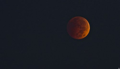 Picture of a Blood Moon taken during a lunar eclipse in 2014.