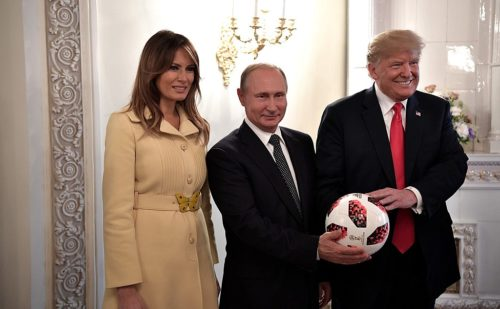 "Mr. Putin gave Mr. Trump a football (soccer ball), saying, ""The ball is now in your court."""