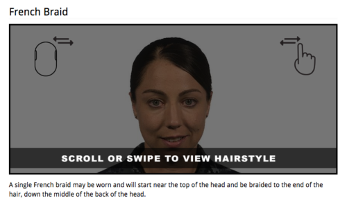 The Navy has created a special viewer for the hair styles on the Internet.