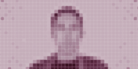 Pixelized silhouette