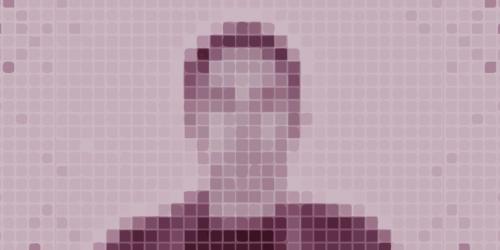 Pixelized silhouette