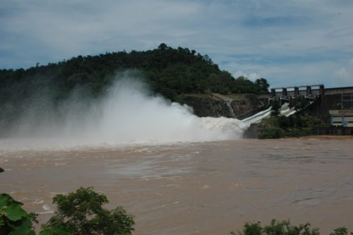 Laos has 46 working hydroelectric dams. They are planning on building 54 more.