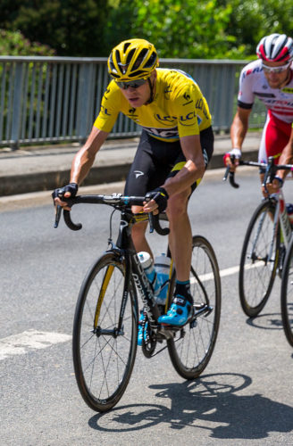 Chris Froome in the 2017 Tour de France.