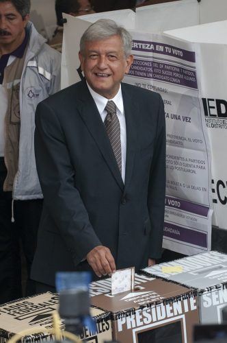 Mr. López Obrador voting in the 2012 presidential election.
