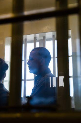 Mr. Obama visiting the room where Mr. Mandela was kept in jail.