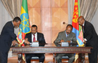 President Isaias Afewerki and Prime Minister Abiy Ahmed signed an agreement of peace and friendship between Eritrea and Ethiopia on July 9, 2018.