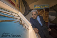 Mr. Chillal looks at his nails in Ripley's Believe It or Not! museum
