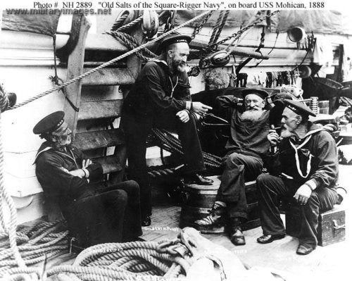 This picture, from 1888, shows US sailors with beards.