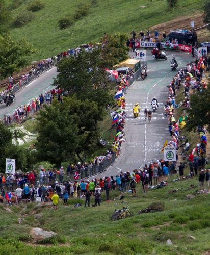 Tour de France climb up Alpe d'Huez in 2011.