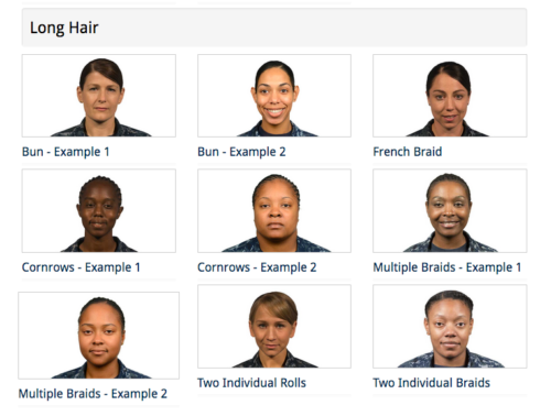 The US Navy has now given women more choices in how they can style their hair.