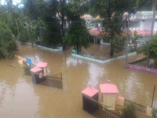 Kerala flooding -An image from Kuzhur Village