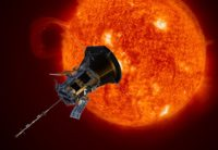 This is an artist's idea of what the Parker Solar Probe will look like near the sun.