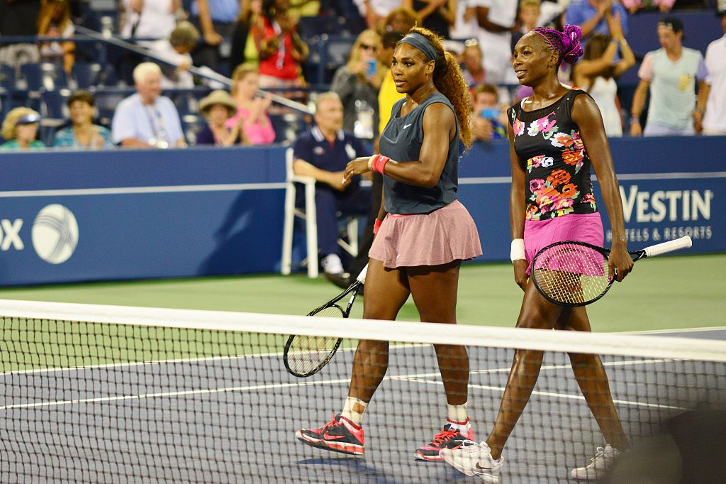 Serena Williams (left) and her sister Venus (right)