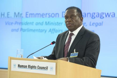 Emmerson Mnangagwa, president of Zimbabwe.