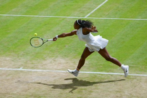 Serena Williams at Wimbledon in 2016.