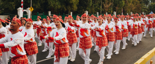 Indonesia tried to set a record for people dancing the poco-poco.