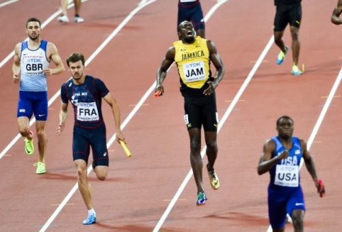 Bolt was hurt in the middle of his very last race in 2017.
