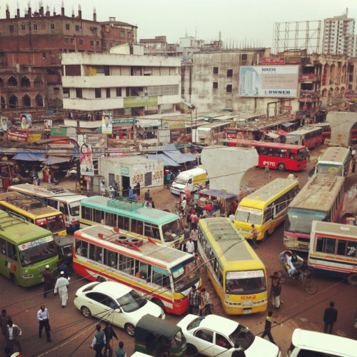 Bangladesh is known for a rather wild traffic system.
