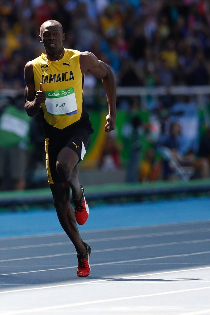 Bolt racing in the 2016 Olympics