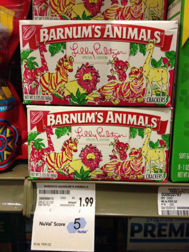 Specially styled box of Barnum's Animals Crackers.