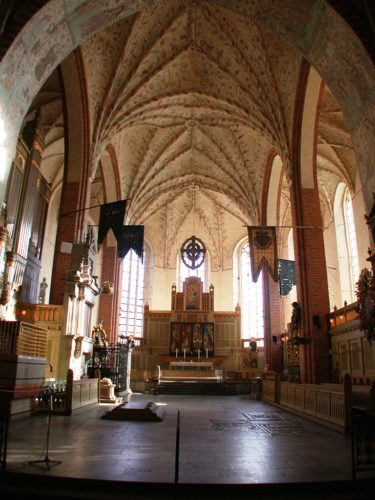 The inside of Strangnas Cathedral.