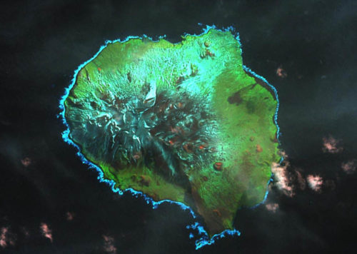 View of Pig Island from space.