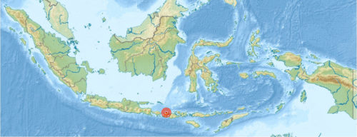 Map of Indonesia showing location of Lombok earthquake.