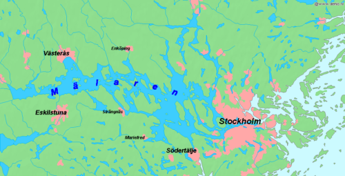 Map of Lake Malaren