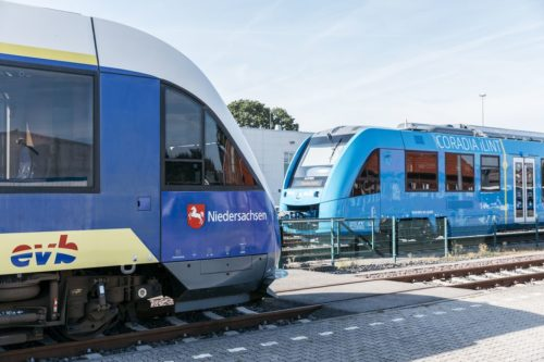 Diesel and hydrogen powered trains.
