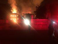 Brazil's National Museum in Rio de Janeiro in flames.