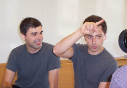 Larry Page (left) and Sergey Brin (right)