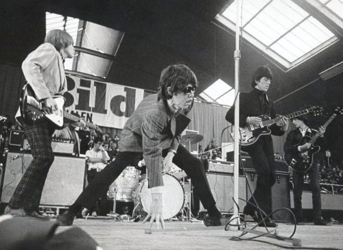 Rolling Stones playing in Sweden in 1966.