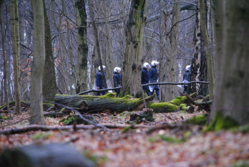 Police moving into Hambach Forest.