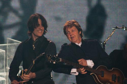 Paul McCartney performing in 2010