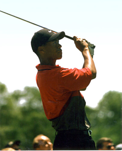 Tiger Woods during his first U.S. Open at Bethesda, Md.'s Congressional Country Club in 1997