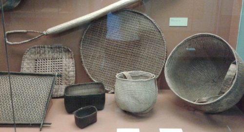 Baskets in the National Museum of Brazil.