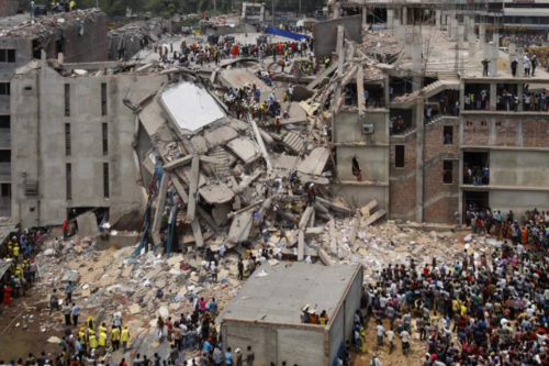 2013 Savar building collapse, Bangladesh.