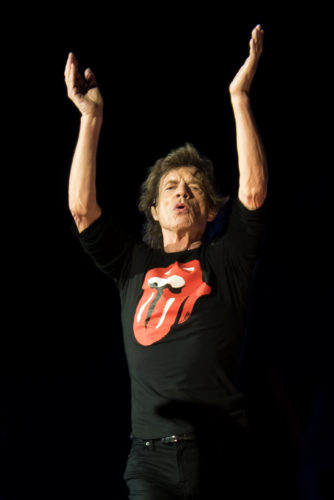Mick Jagger at a Rolling Stones concert, Warsaw, July 2018