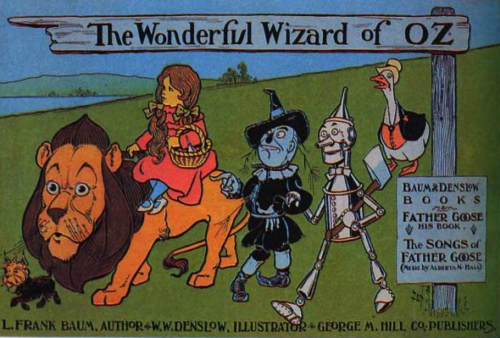 Poster advertising The Wonderful Wizard of Oz, issued by the George M. Hill Company, 1900