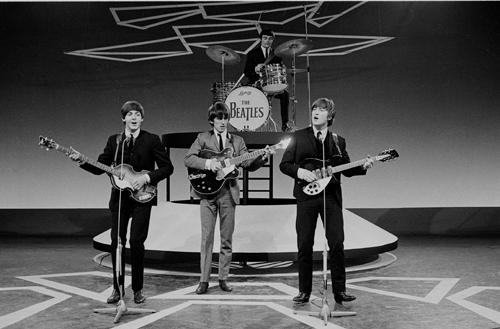 The Beatles (with Jimmy Nicol on drums) in 1964.